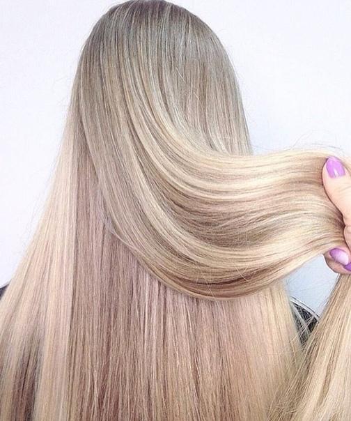экранирование на светлых волосах