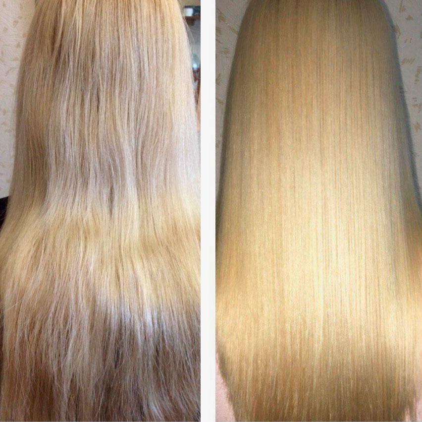 экранирование волос блонд