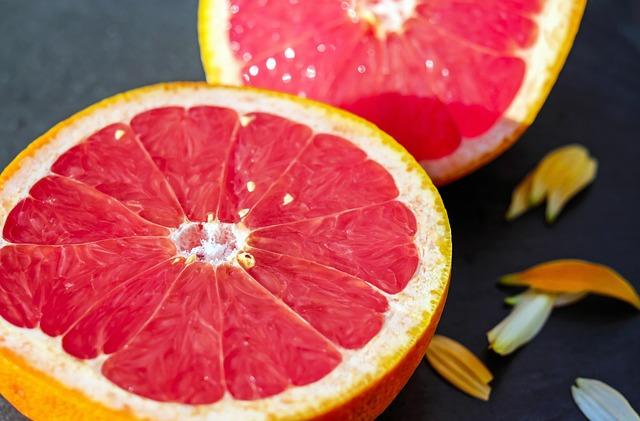 Топ 20 низкокалорийных продуктов: грейпфрут