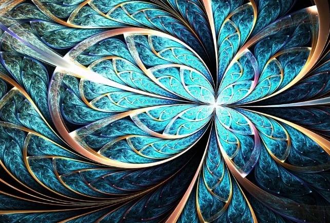 абстракция голубой