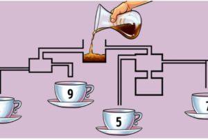 чашка наливает кофе