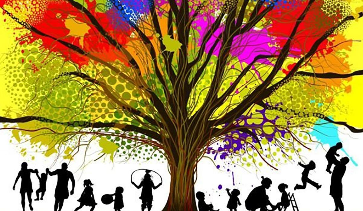 цветное дерево