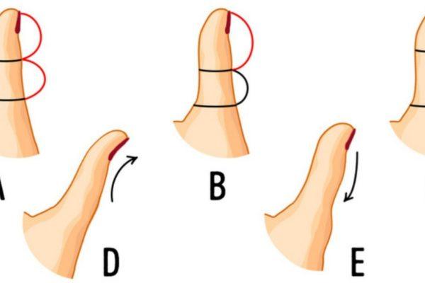 тест: форма большого пальца