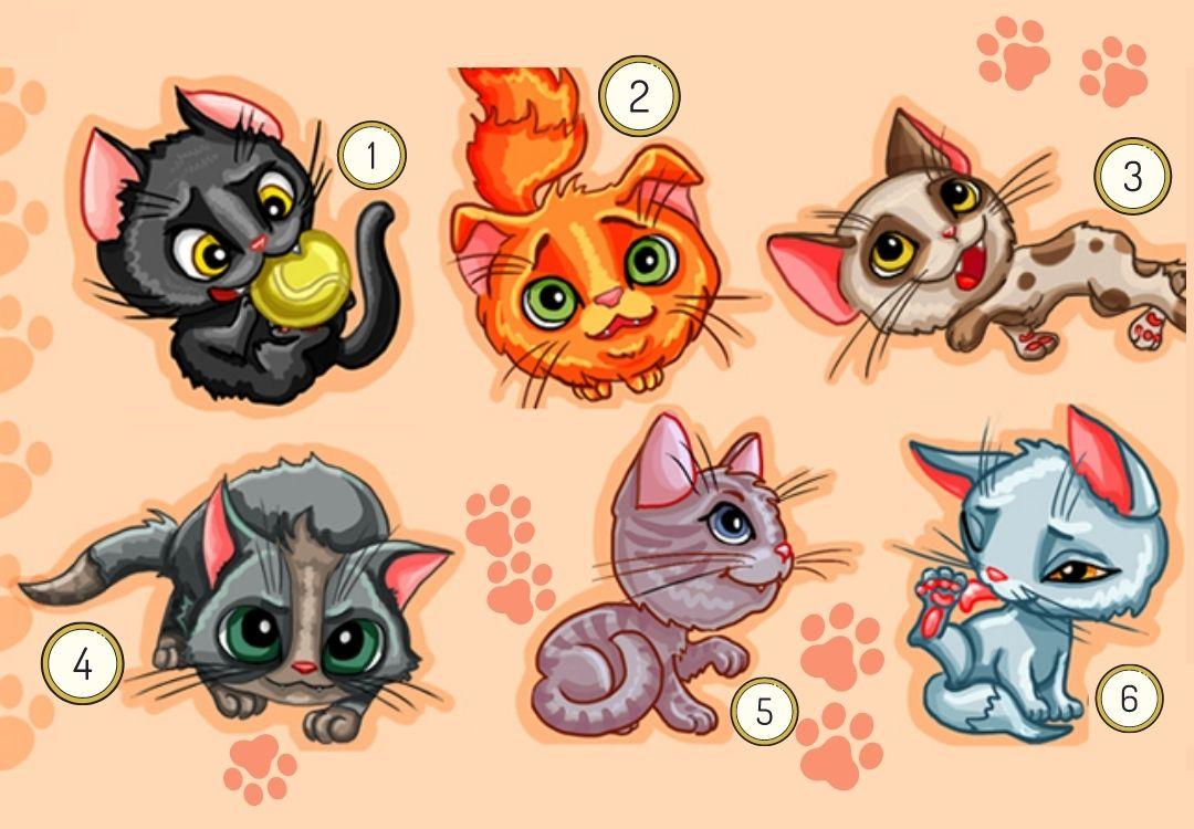 психологический тест: выберите кошку