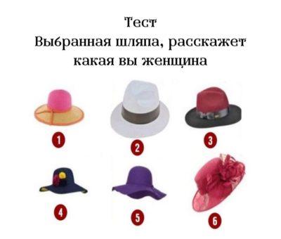 Тест Выбранная шляпа, расскажет какая вы женщина