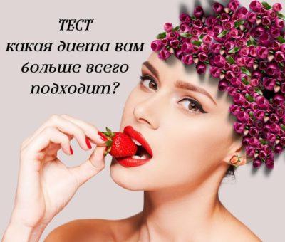 Тест: какая диета вам больше всего подходит?